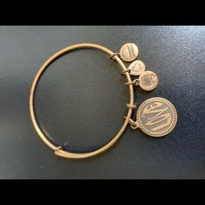 """Gold Alex + Ani """"love"""" bracelet"""